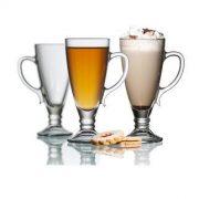 Dalia frappés talpas pohár szett,  2 db,  27 cl,     17,2 cm