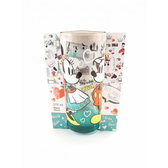 Disney Mickey-Minnie üveg pohár 270 ml BÉCS design