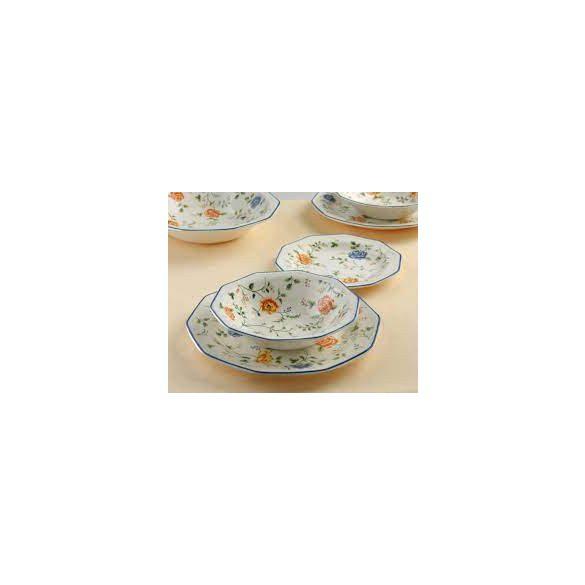 Churchill Multi Rose Chintz 19 részes kerámia étkészlet, szögletes tányérral