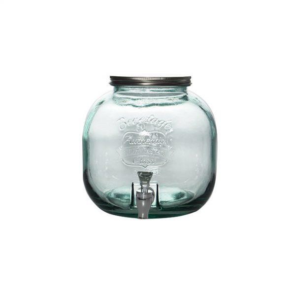 Authentic zöld limonádés üveg csappal,  6 l