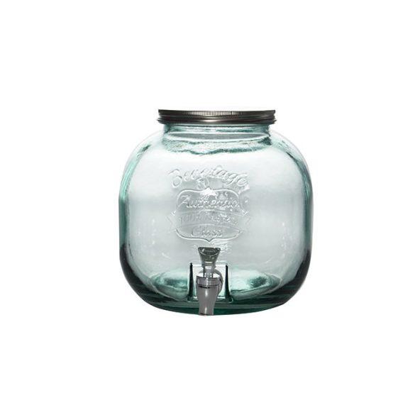 Authentic zöld limonádés üveg csappal,  6 literes