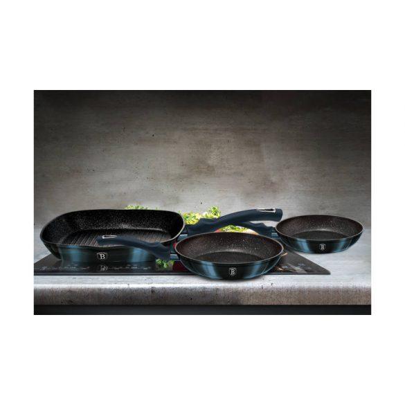 Berlinger Haus Metallic Line Aquamarine Edition 3 részes serpenyő szett