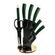 Berlinger Haus Emerald Collection 8 részes késkészlet titán bevonattal, állvánnyal, smaragdzöld BH-2563