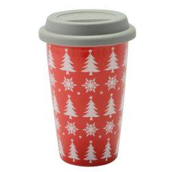 Perfect Home Kerámia bögre fedővel karácsonyi 350 ml