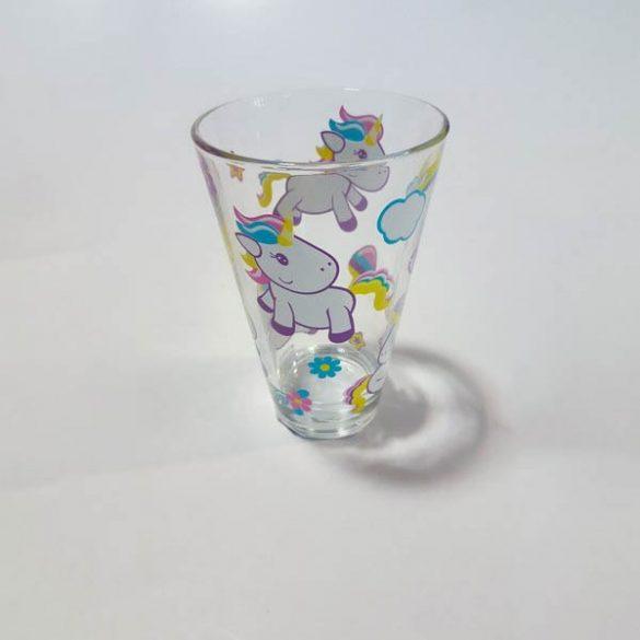 Nadia Unicornis üveg üdÍtős pohár szett, 6 db,  31 cl