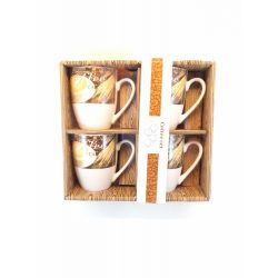 4 db-os porcelán  Kávés csésze szett díszdobozban 4*175 ml