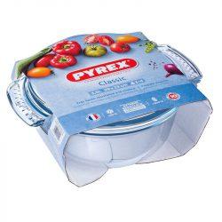 PYREX kerek sütőtál + fedő 3,5 L (2,5 l + 1 l)