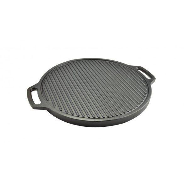 Öntöttvas 2 oldalas  kerek grill lap 44,5 cm fülek nélkül