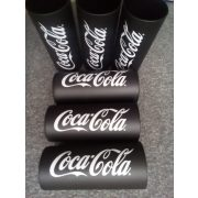 Coca-cola  fekete üveg üdÍtős pohár szett 6 db,  27 cl