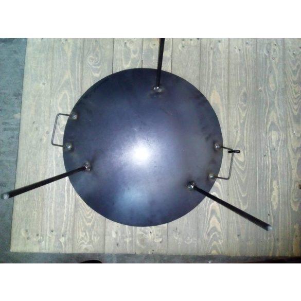 50 cm vas grilltárcsa becsavarható lábakkal