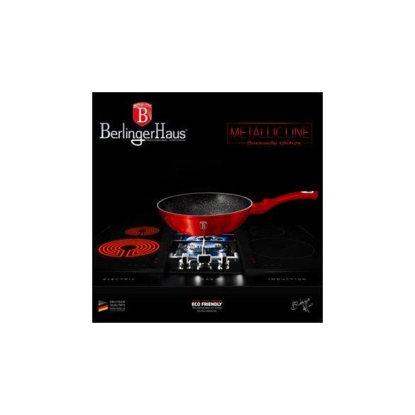 Berlinger Haus Metallic Line Burgundy Edition  Wok 30 cm , AJÁNDÉK ALÁTÉT