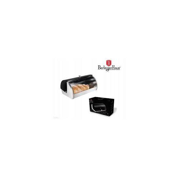 Berlinger Haus Black Silver Collection kenyértartó doboz metál külső bevonattal, fekete/ezüst BH-6294