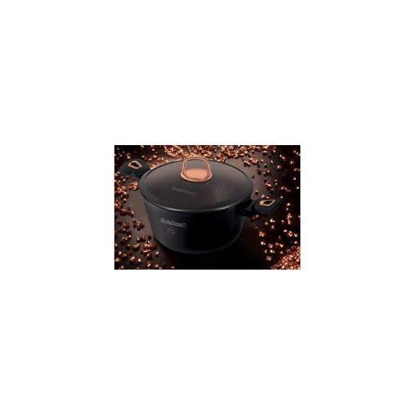 Black Rose lábas üveg fedővel 24 cm,     4,1 literes
