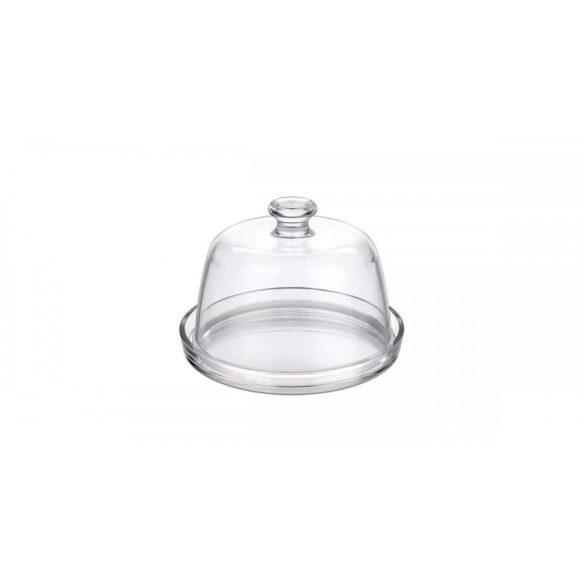 Palladio üveg sütemény vagy sajttál búrával 22 cm