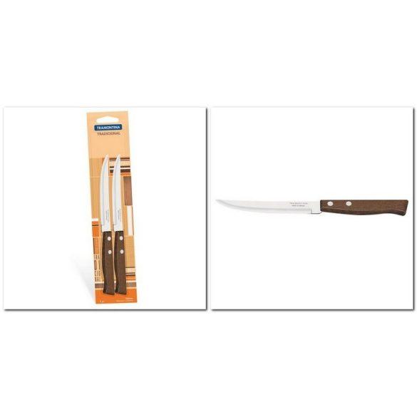 Fanyelű 2 db steak kés sima pengével