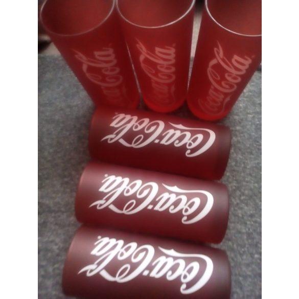 Coca-cola piros üveg üdÍtős pohár szett 6 db, 27 cl