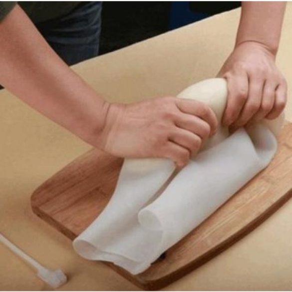 Szilikon tésztadagasztó - húsklopfoló zsák, 32,5*22 cm