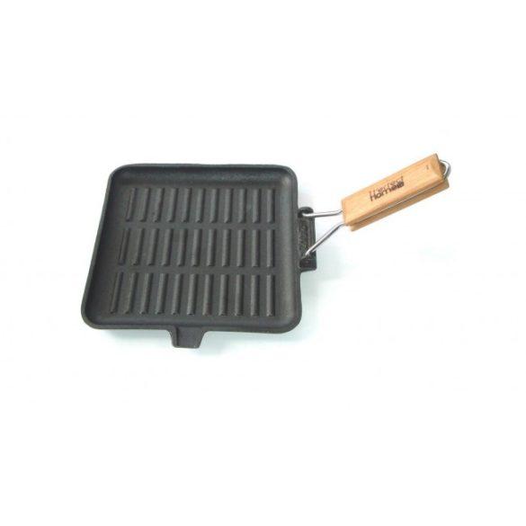 Öntöttvas grill serpenyő szögletes 24 cm