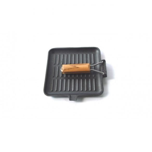 Perfect Home Öntöttvas grill serpenyő szögletes 24 cm