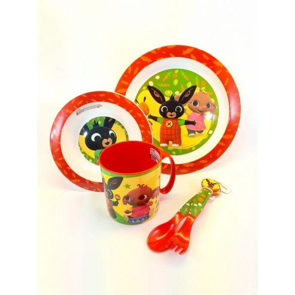 Bing Nyuszis műanyag 5 részes gyerek étkező szett
