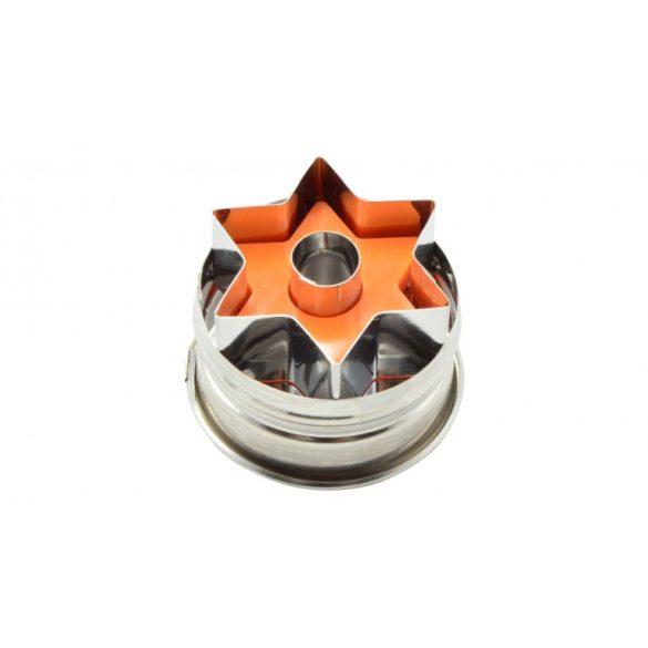 Linzerkiszúró rugós csillag alakú 5*3,5 cm (1 db)