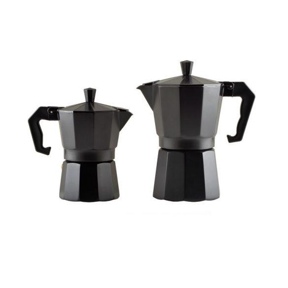 Kotyogós kávéfőző 3 személyes, fekete