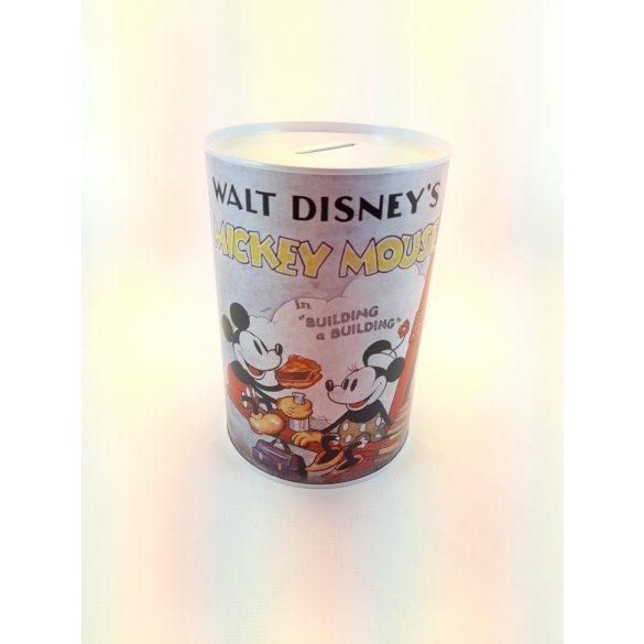 Walt Disney's Mickey Mouse henger alakú fém persely 10*15 cm