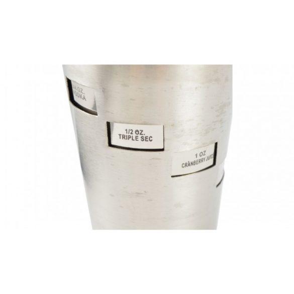 Forgatható, rozsdamentes shaker