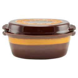 Agyag római tál, mázas, 4.5 literes