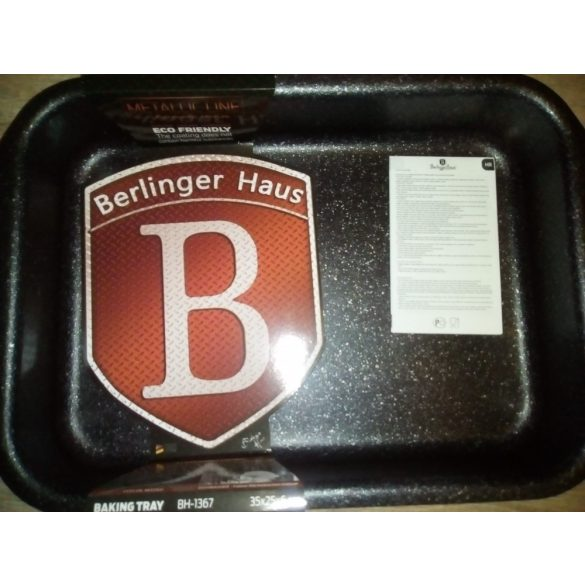 Berlinger Haus Metallic Line tepsi titán bevonattal, metál külső bevonattal, burgundy 35*27*6,5 cm