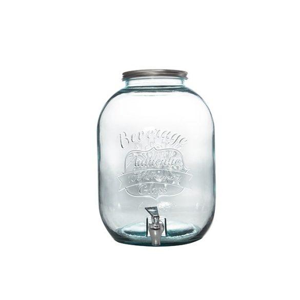 Authentic Extra zöld limonádés üveg csappal,   12,5 literes