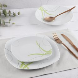 Green Lines Porcelán étkészlet 18 részes,  szögletes