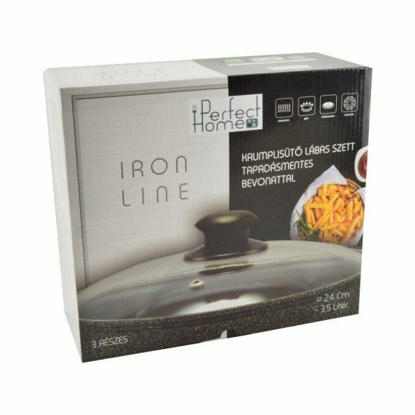 Iron line krumplisütő tapadásmentes bevonattal 3 részes 3,5 literes fekete