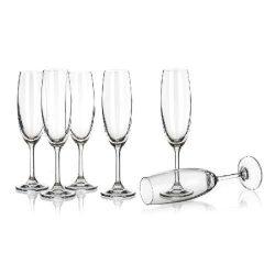 Leona pezsgős üveg pohár szett 6*210 ml