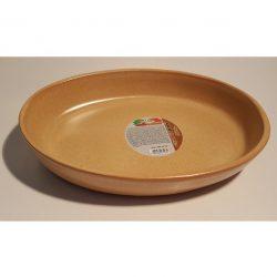 Cserép ovális sütőtál 35 cm /peremes/