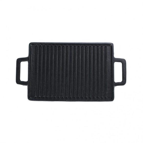Öntöttvas grill lap mini 2 oldalas 28,5*14,5 cm