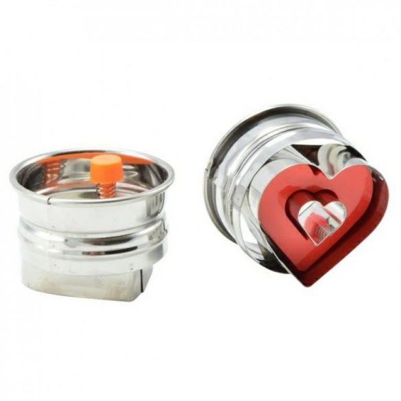 Linzerkiszúró rugós szív forma 5*3,5 cm (1 db)