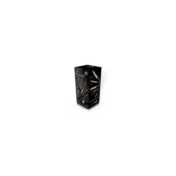 Berlinger Haus Shine Basalt Collection 8 részes rozsdamentes acél késkészlet állvánnyal, fekete BH-2461