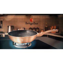 Berlinger Haus Metallic Rosegold Line wok márvány bevonattal, metál külső bevonattal, 28 cm