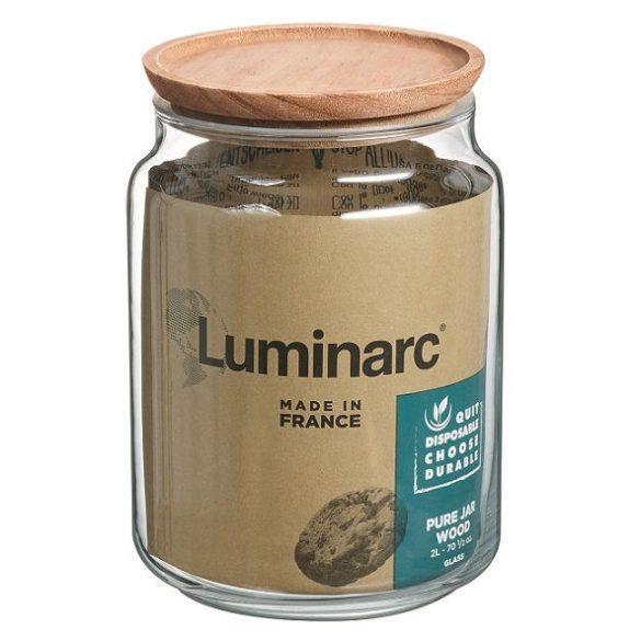 Luminarc POT PURE üveg tároló 2 literes  fa tetővel