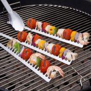 Fésűs grill nyárs 2 db,  31 cm