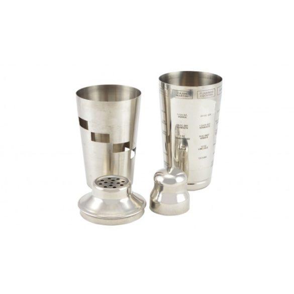 Forgatható shaker rozsdamentes acél