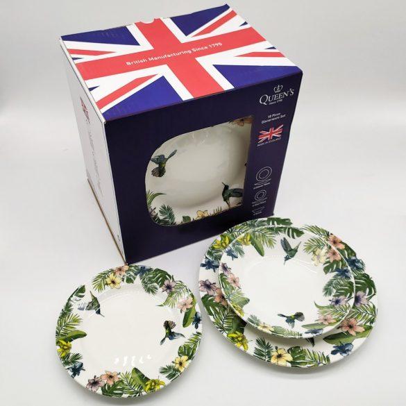 Queen's Churchill Reingforest mázas kerámia étkészlet 18 részes