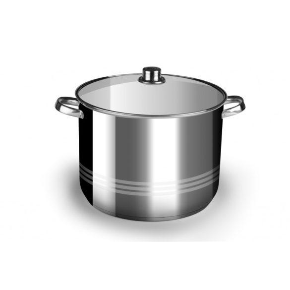 2,4 literes rozsdamentes acél fazék fedővel