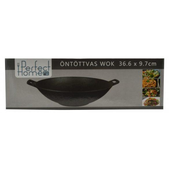 Öntöttvas wok 36,6 x 9,7 cm