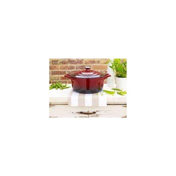 La Cuisine RED 4,75 literes kívül-belül zománcos öntöttvas lábas fedővel 26*12 cm